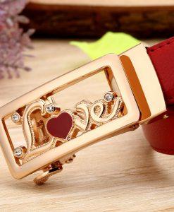 Women Belts Luxury Famous Designer Brand High Quality Genuine Leather Strap Automatic Reversible Buckle Belt for Dress Ceinture 1