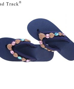 Road Track Women Summer Open Toe Sandals Large Diamond Non-slip Sandals Comfortable Casual Female Beach Shoes XWA1098-45