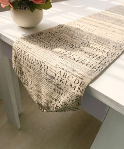 GIANTEX European Style Letters Design Cotton Linen Table Runner Home Decor U1111 1