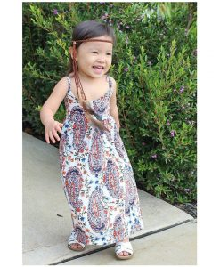 Belababy Baby Girls Dresses 2018 Summer New O-Neck Sleeveless Beach Casual Princesse Birthday Party Dress For Girl 1
