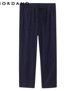 Giordano Women Linen Cotton Pants Straight Cutting Women Trousers Ankle Length Pants For Women Pantalon Femme Calca Feminina 1