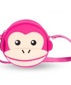 NOHOO Waterproof Kid Bags Fashion Cartoon Kids Messenger Bags 3D Monkey Handbags Children Girls Shoulder Bags Crossbody Bags 1
