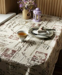 GIANTEX Tower Print Decorative Table Cloth Cotton Linen Lace Tablecloth Dining Table Cover For Kitchen Home Decor U0996 1