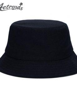 [AETRENDS] 2017 Hot Sale 7 Solid Colors Bucket Hats for Women Men Panama Bucket Cap Women Hat Z-1570
