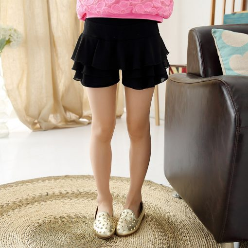 V-TREE Summer 2016 girls shorts chiffon shorts for girls candy color  girls lace shorts with skirt teenager school shorts 3