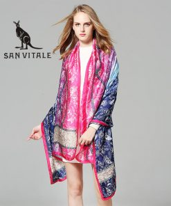 Scarves Womens Silk Scarf Summer Hijab Cotton For Dress Fashion Scarfs High Quality Designer Casual Clothing Accessories Apparel