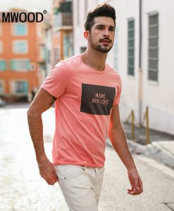 SIMWOOD 2018 Brand Fashion Casual Men T shirt Summer Short Sleeve O-neck Letter Print Slim T shirt Mens Tops Tee TD017112