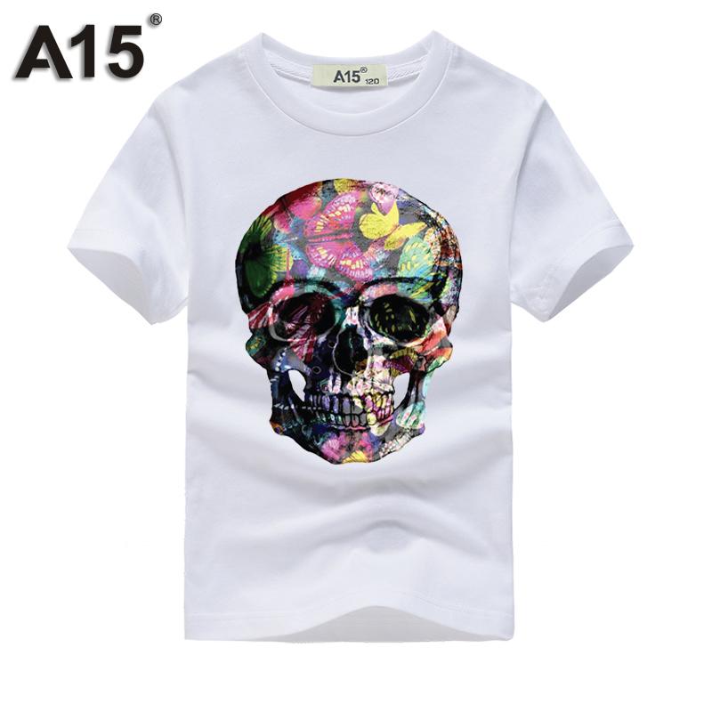 A15 tshirt 3D Short Sleeve t-shirt Kids Girl t shirt Boy Summer 2018 tshirts Cotton Tops Teenage Funny t thirts Tee 8 10 12 Year