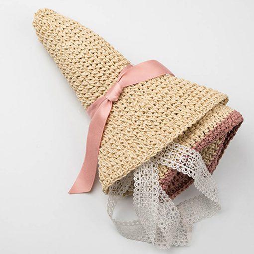 FS Large Brim Floppy Hats Women Beach Straw Hat With Elegant White Lace Ribbon 2018 New Fashion Sun UV Sombrero Mujer 5
