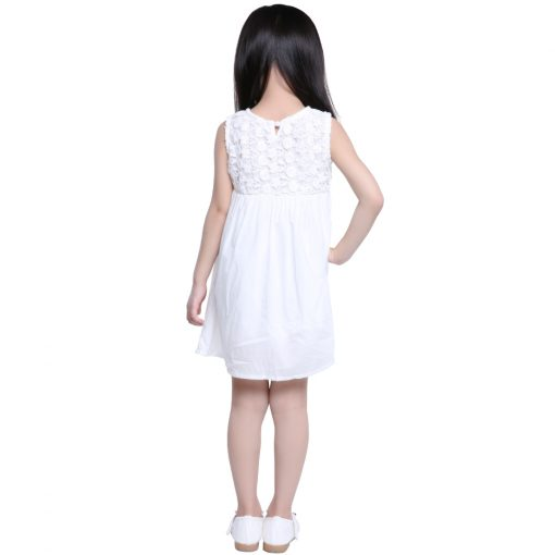 COSPOT 2018 New Time-limited Sale Girls Dress White Summer Party Princess Floral Girls Dresses Vestidos Casual Baby Dress 25C 3