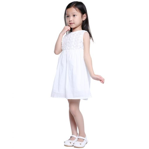 COSPOT 2018 New Time-limited Sale Girls Dress White Summer Party Princess Floral Girls Dresses Vestidos Casual Baby Dress 25C 2
