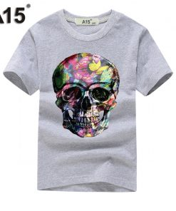 A15 tshirt 3D Short Sleeve t-shirt Kids Girl t shirt Boy Summer 2018 tshirts Cotton Tops Teenage Funny t thirts Tee 8 10 12 Year 1