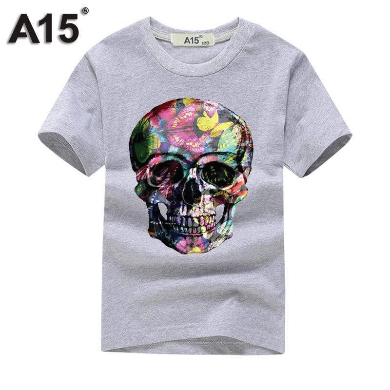 A15 tshirt 3D Short Sleeve t-shirt Kids Girl t shirt Boy Summer 2018 tshirts Cotton Tops Teenage Funny t thirts Tee 8 10 12 Year 1