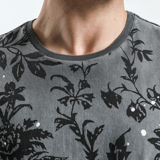 SIMWOOD 2018 Summer Fashion Printed T-Shirts Men 100% Pure Cotton Tops Tees Slim Fit High Quality Brand Clothing 180046 2
