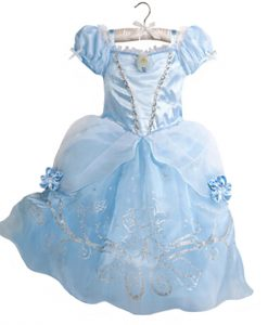 2017 Girls Dress Cinderella Costume for Kids Rapunzel Belle Sofia Princess Dress Children Party Dress Cosplay Costume Vestidos