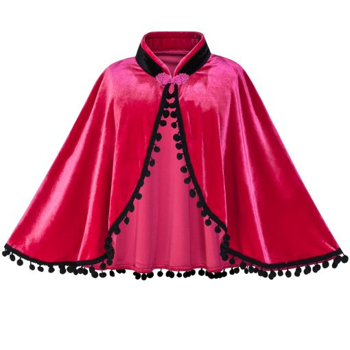 Princess Dress Anna Costume Dress Up Cosplay Cloak Snowflake 2018 Summer Wedding Party Dresses Kids Clothes Size 5-12 Pageant 5