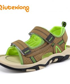 QIUTEXIONG Summer Beach Sandals For Boys Kids Sandals Children Shoes Breathable Cut-outs Quick-dry School Sport sandalia Shoe 1