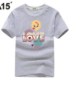 A15 Baby Boy Clothes Summer 2018 Cotton Tshirt 3D White Printed T-shirt for Girls Clothing Kids Short Sleeve Tees 6 8 10 12 Year