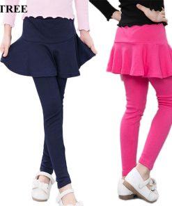 V-TREE 2017 spring autumn girls leggings pants for girls kids pants cotton children skirt leggings baby trousers clothing