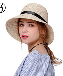 FS 2018 Fashion Korean Style Straw Hats For Female Wide Brim Floppy Beach Casual Sun Hat With Glitter Sequins Lady