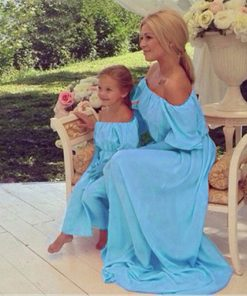 Mama Baby Vestidos Mother Daughter Wedding Dresses Off Shoulder One Neck Family Matching Outfits Clothing Mom and Daughter Dress