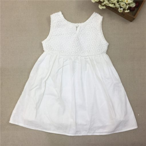 COSPOT 2018 New Time-limited Sale Girls Dress White Summer Party Princess Floral Girls Dresses Vestidos Casual Baby Dress 25C 5