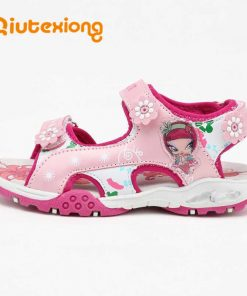QIUTEXIONG Children Shoes Girls Sandals Summer Kids Sandals Beach Shoes Breathable Water sandalias Toddler Girls Pink Red Purple