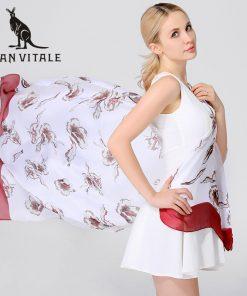 Scarves Women Silk Scarf 2018 Poncho Summer Skinny Ethnic Plaid Twill For Dress Scarfs High Quality Designer Casual Clothing