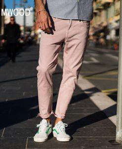 SIMWOOD 2018 Spring Summer New Jeans Men Casual Slim Fit Ankle-Length Denim Pants Unfinished Hem Jeans Plus Size 180077