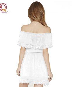 Summer Dress 2018 new fashion Sexy Strapless Off Shoulder Lace Dresses For Women Little Black  Short Sundress plus size 1
