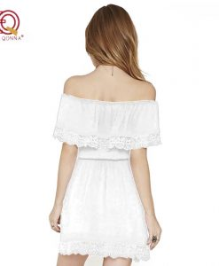 Summer Dress 2018 new fashion Sexy Strapless Off Shoulder Lace Dresses For Women Little Black  Short Sundress plus size 1