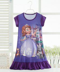 Elsa Anna Sofia Princess Dress Summer Girls Dress Nightgown Kids Dresses Night Gown Pajamas Dress Sleepwear Pyjamas Clothes 1