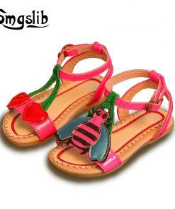kids shoes girls sandals baby Children leather shoes 2018 princess dress toddler tenis infantil Summer strap Flat Heels Sandals