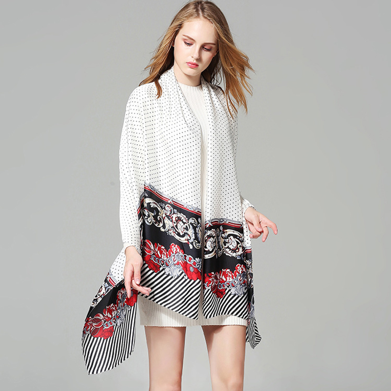 Scarves Women Silk Scarf Square Head Scarf Leopard Print Chiffon Beach Dress Designer Twill Fashion Cotton 2018 New Spring Dress 1