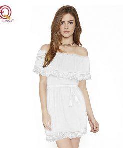 Summer Dress 2018 new fashion Sexy Strapless Off Shoulder Lace Dresses For Women Little Black  Short Sundress plus size