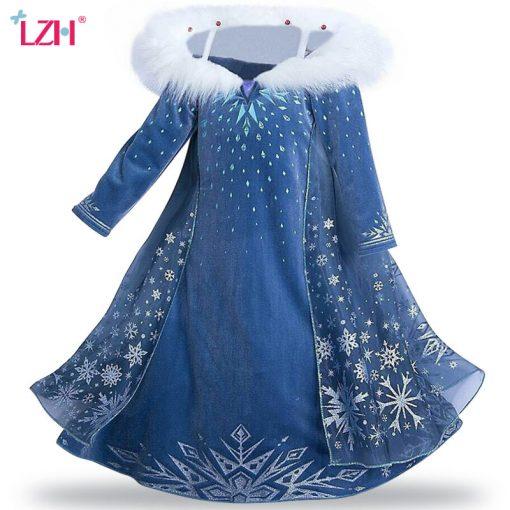 LZH Elsa Dress For Girls Cinderella Dress Girls Party Dresses Easter Carnival Costume For Girls Princess Dress Kids Clothing