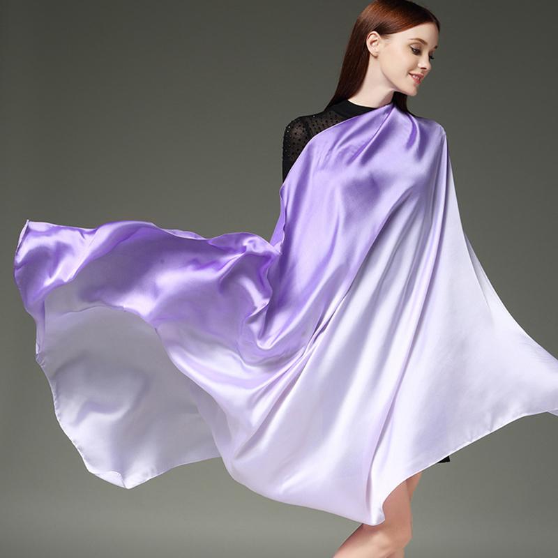 Scarves Women'S Silk Scarf For Ladies Hijab Beige High Quality Women Fashion 2018 Polka Dots Luxury Brand Bohemian Crinkle Hijab 1