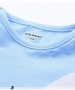Little maven brand children clothing 2017 new summer baby boy clothes cotton plane print children's sets 20082 1