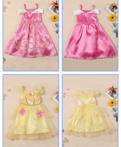2017 Girls Dress Cinderella Costume for Kids Rapunzel Belle Sofia Princess Dress Children Party Dress Cosplay Costume Vestidos 1