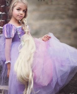 Brand Tangled Rapunzel Dress for Girls Party Princess Dress Fancy Kids Rapunzel Cosplay Birthday Clothes Kids Carnival Costume 1