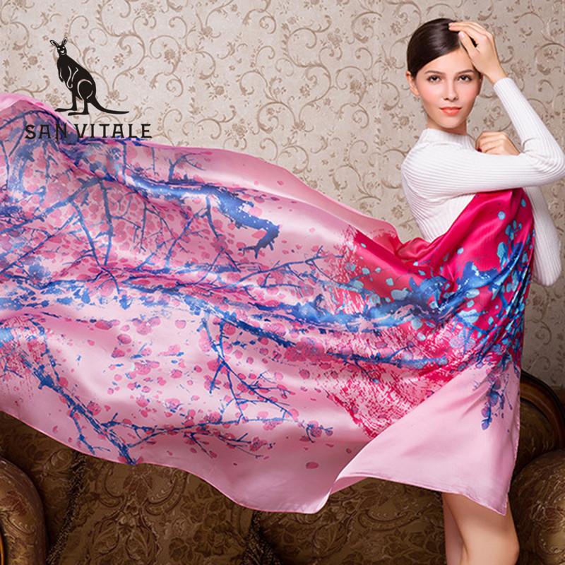 Scarves Women Silk Scarf Sunflower Poncho Headscarf Bohemian Long Crinkle Hijab Chiffon Designer Twill Fashion Cotton 2018 Dress