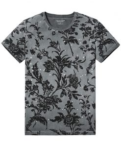 SIMWOOD 2018 Summer Fashion Printed T-Shirts Men 100% Pure Cotton Tops Tees Slim Fit High Quality Brand Clothing 180046 1