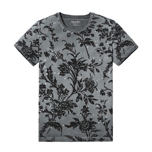 SIMWOOD 2018 Summer Fashion Printed T-Shirts Men 100% Pure Cotton Tops Tees Slim Fit High Quality Brand Clothing 180046 1