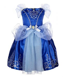 Summer Blue Cinderella Costume Dress Baby Girl Clothes Kids Party Cosplay Dress Children Clothing 2-7Years Girls Dress Vestidos