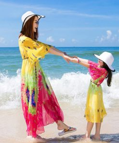 Family Matching Outfits 2018 Summer Style Mother Daughter Dresses Family Look Bohemian Dress Family Clothing matching dress 1
