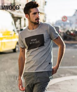 SIMWOOD 2018 Brand Fashion Casual Men T shirt Summer Short Sleeve O-neck Letter Print Slim T shirt Mens Tops Tee TD017112 1