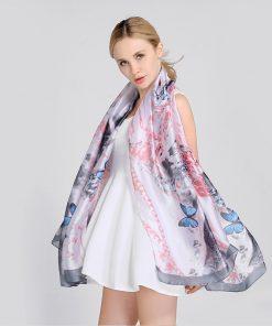 Scarves Women'S Silk Scarf Neck Hijab Polka Dots High Quality Women Fashion 2018 Beige Luxury Brand Bohemian Crinkle Hijab Twill 1