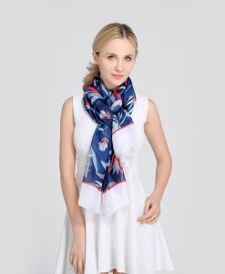 Scarves Women'S Silk Scarf Floral Lace Scarf Head Cover New Spring Embroidery Dress High Quality Women Fashion 2018 Luxury Brand 1