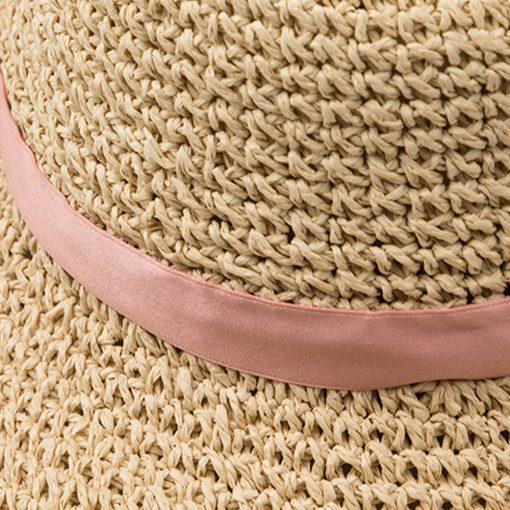 FS Large Brim Floppy Hats Women Beach Straw Hat With Elegant White Lace Ribbon 2018 New Fashion Sun UV Sombrero Mujer 3