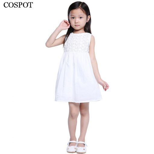 COSPOT 2018 New Time-limited Sale Girls Dress White Summer Party Princess Floral Girls Dresses Vestidos Casual Baby Dress 25C
